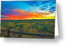 Taos Sunset Ix Greeting Card
