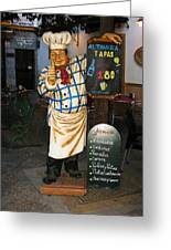 Tapas Man In Spain Greeting Card