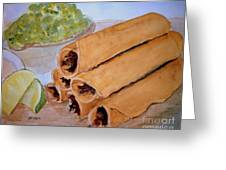Taquitos With Salsa Greeting Card