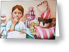 Tasting The Cake Greeting Card