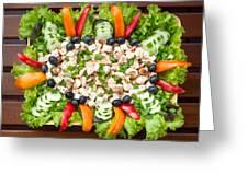 Tasty Chicken Salad Greeting Card