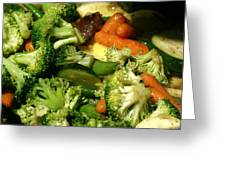 Tasty Veggie Stir Fry Greeting Card