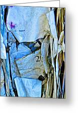Tattered Paper On A Bulletin Board No.1045 Greeting Card