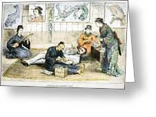 Tattoo Parlor, 1882 Greeting Card
