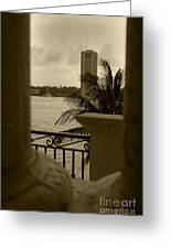 Taupe Terrace Greeting Card