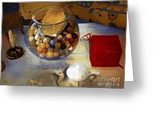 Tea And Toys Greeting Card