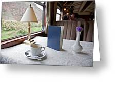 Tea Is Served By Peru Rail On The Way Greeting Card by Michael &Amp Jennifer Lewis