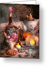 Tea Party - I Would Love To Have Some Tea  Greeting Card by Mike Savad