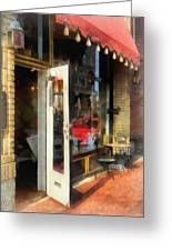 Tea Room In Sono Norwalk Ct Greeting Card by Susan Savad