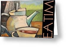 Tea Time Poster Greeting Card