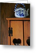 Teapot On Cabinet Greeting Card