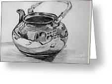 Teapot Reflections Greeting Card