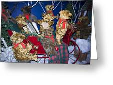 Teddy Bear Band Christmas Greeting Card