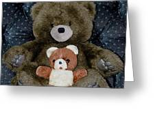 Teddy Elder Care Bear Greeting Card