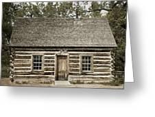 Teddy Roosevelt's Maltese Cross Log Cabin Retro Style Greeting Card