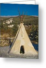 Teepee In The Snow 2 Greeting Card