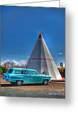 Teepee On Route 66 Greeting Card