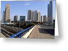 Tel Aviv - Ha Ayalon Greeting Card