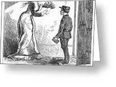 Telegram: Death, 1879 Greeting Card