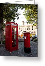 Telephone And Mail Box Greeting Card