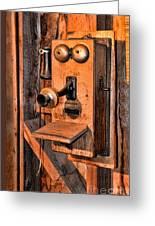 Telephone - Antique Hand Cranked Phone Greeting Card