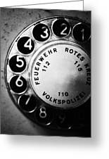 Telephone Dial Greeting Card