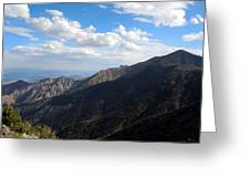 Telescope Peak And The Valley Greeting Card