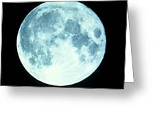 Telescope Photo Of Full Moon From Earth Greeting Card