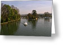 Temple Lock On The River Thames Greeting Card