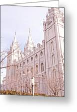 Temple Mormon In Temple Square Greeting Card
