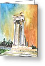 Temple Of Apollo In Kourion Greeting Card