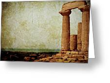 Temple Of Juno Greeting Card
