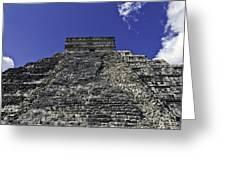 Temple Of Kukulkan Three Greeting Card