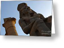 Temple Of Luxor Ramses Ll Greeting Card