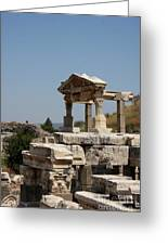 Temple Ruin - Ephesus Greeting Card