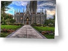 Temple Square Assembly Hall Greeting Card