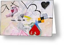Ten Of Hearts 1-52 Greeting Card by Cliff Spohn