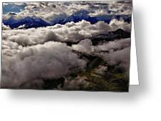 Ten Thousand Feet Over Denali Greeting Card