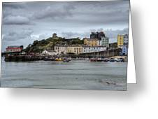 Tenby Harbour From North Beach Greeting Card