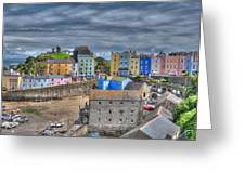 Tenby Harbour In Summer 2 Greeting Card
