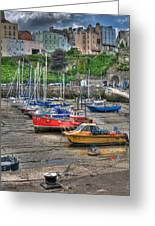 Tenby Harbour In Summer 3 Greeting Card