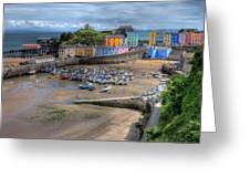 Tenby Harbour In Summer Greeting Card
