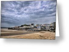Tenby Harbour Low Tide Greeting Card