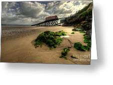 Tenby Lifeboat Ramps Greeting Card