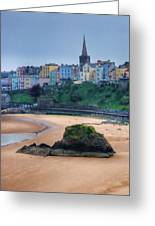 Tenby Over North Beach Painted Greeting Card