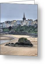 Tenby Over North Beach Greeting Card