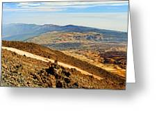 Tenerife Volcanic Landscape Greeting Card