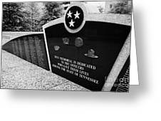 tennessee state police officer memorial war memorial plaza Nashville Tennessee USA Greeting Card
