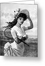 Tennis, 1887 Greeting Card