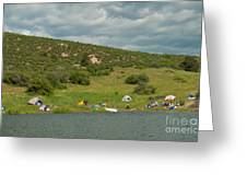 Tent Camping At Horsetooth Reservoir Greeting Card by Harry Strharsky
